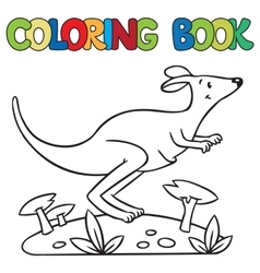 Coloring book of little kangaroo vector