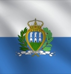 San marino flag vector