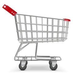 Supermarket cart vector