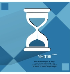 Sand clock glass timer  flat modern web button vector