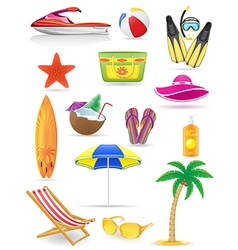 Set of beach icons 03 vector