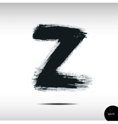 Calligraphic watercolor letter z vector