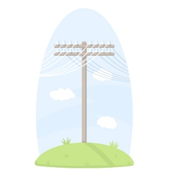 One telegraph pole vector
