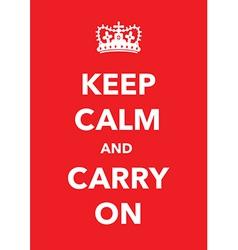 Keep calm poster vector