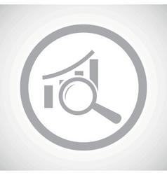 Grey graphic examination sign icon vector