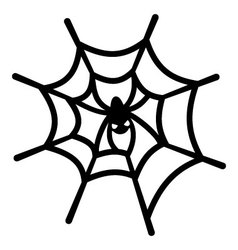 Spider web and spider vector