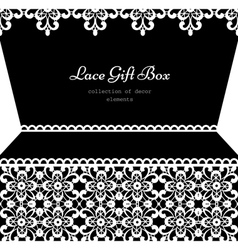 Lacy gift box vector