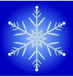 Snowflake jewelry vector