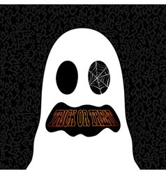 Happy halloween trick or treat ghost drawing eps10 vector