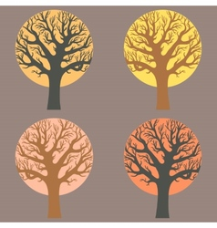 A group of trees vector