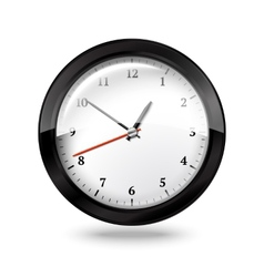 Black office clock isolated on white background vector