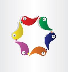 Parrots circle birds symbol vector