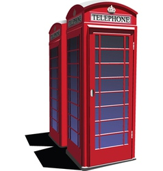 English telephone booth vector