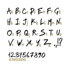 Hand drawn font two case vector