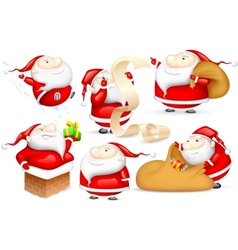 Santa in different mood vector