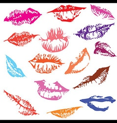 Lips set track vector