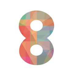 Colorful number eight vector