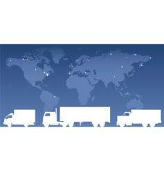 Cargo trucks vector