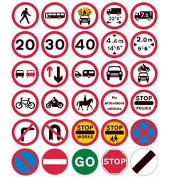 Road traffic order signs vector