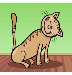 Happy cat cartoon vector