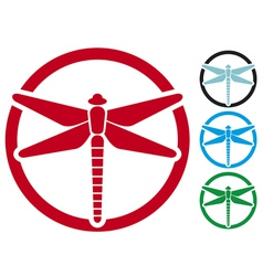Dragonfly sign vector