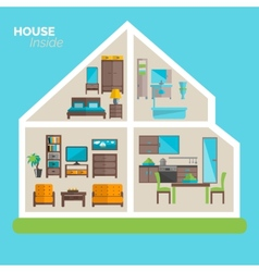 House inside furnishing ideas icon poster vector