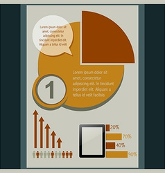 Pie infographic design vector
