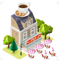 Cafe building tint icon isometric vector