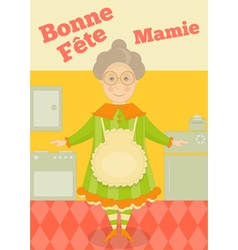 Grandmother day france greeting card vector