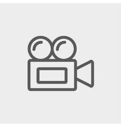 Old cinema video cam thin line icon vector