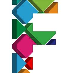 3d font letter f vector