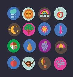 Autumn icons design vector