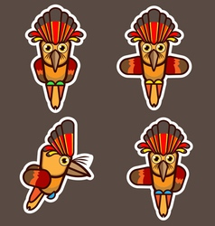 Royal flycatcher abstract cartoon vector