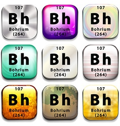 A periodic table button showing the bohrium vector