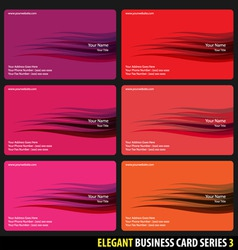 Elegant business cards vector