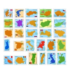 Eu country stamps vector