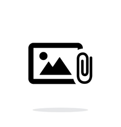 Attach photo icon on white background vector
