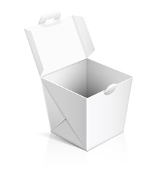 Chinese food opened take out box vector