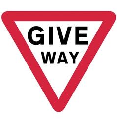 Give way sign vector