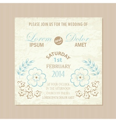 Wedding card vintage vector