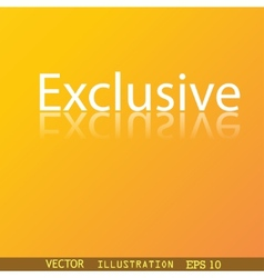 Exclusive icon symbol flat modern web design with vector