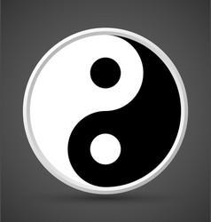 Yin yang symbol icon vector