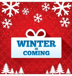 Winter is coming sale background christmas sale vector