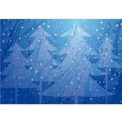 Christmas trees splatter background vector
