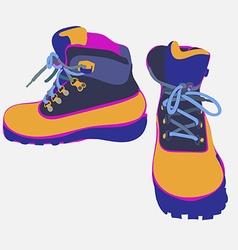 Tour boots 01 vector