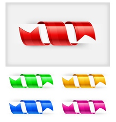 Bookmark ribbon vector