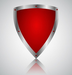 Victory red shield symbol icon vector