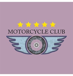 Retro motorcycle club logo vector
