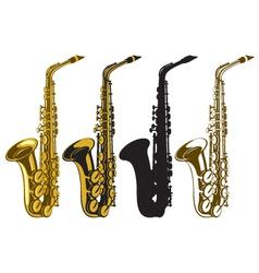 Saxophones vector