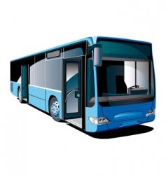 Modern bus vector
